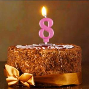 Metallic Number Candles