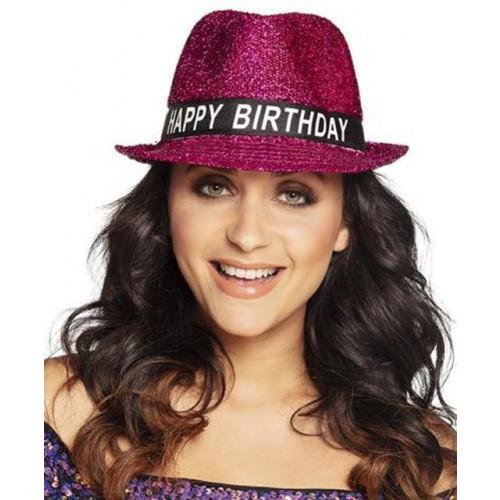 HAPPY BIRTHDAY FUCHSIA HAT