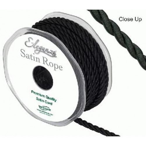 Satin Rope 5.5Mmx10M Black No.20