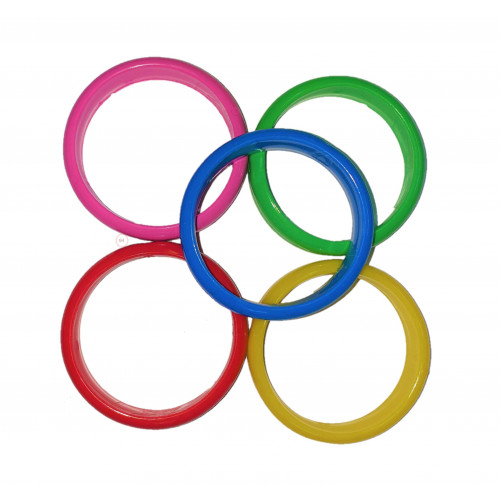 PLASTIC BALLOON WEIGHT ASSORTED COLOUR BANGLES