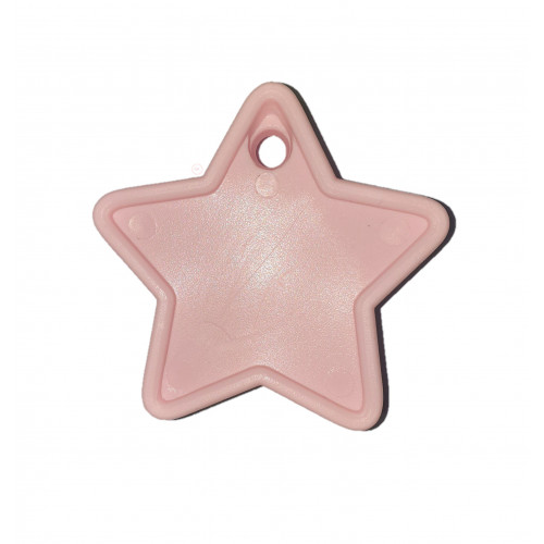 PLASTIC 40GM BALLOON WEIGHT LIGHT PINK STARS
