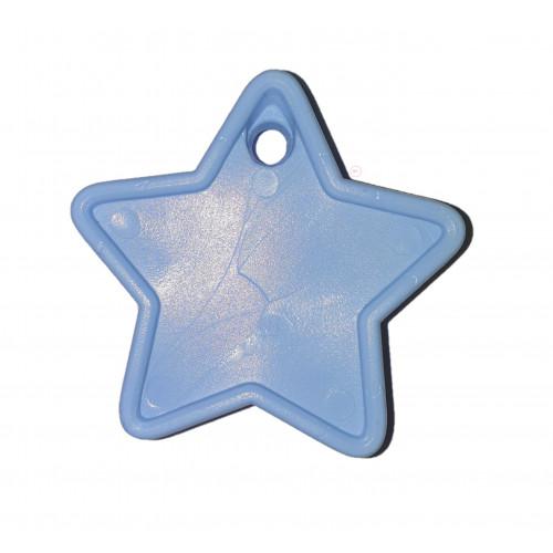 PLASTIC 40GM BALLOON WEIGHT LIGHT BLUE STARS