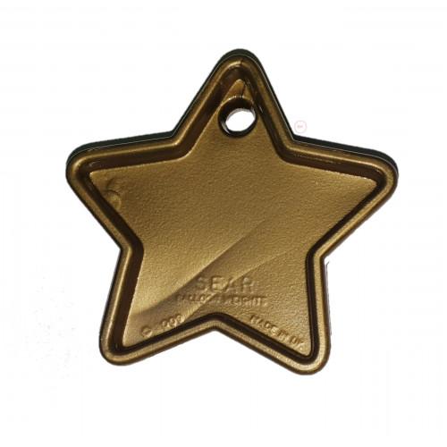 PLASTIC 40GM BALLOON WEIGHT GOLD STARS