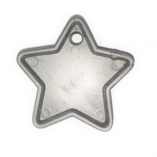 PLASTIC 40GM BALLOON WEIGHT SILVER STARS