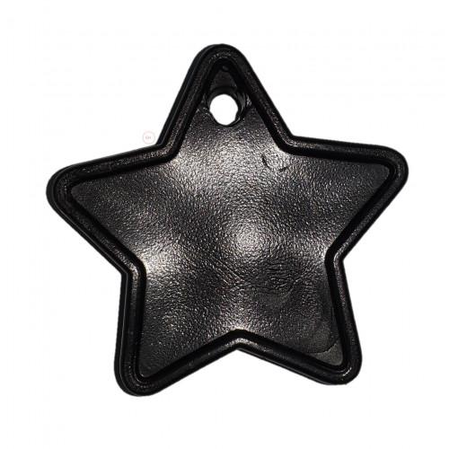 PLASTIC 40GM BALLOON WEIGHT BLACK STARS