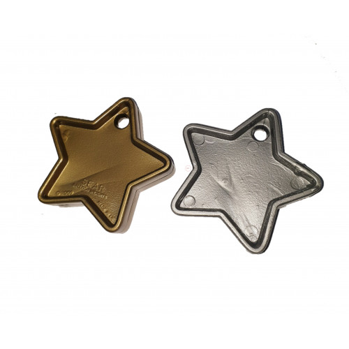 PLASTIC 40GM BALLOON WEIGHT GOLD & SILVER STAR