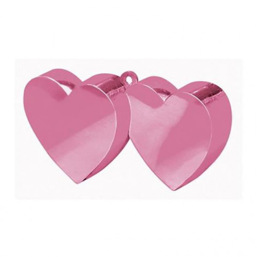 BALLOON WEIGHT DOUBLE HEART LIGHT PINK