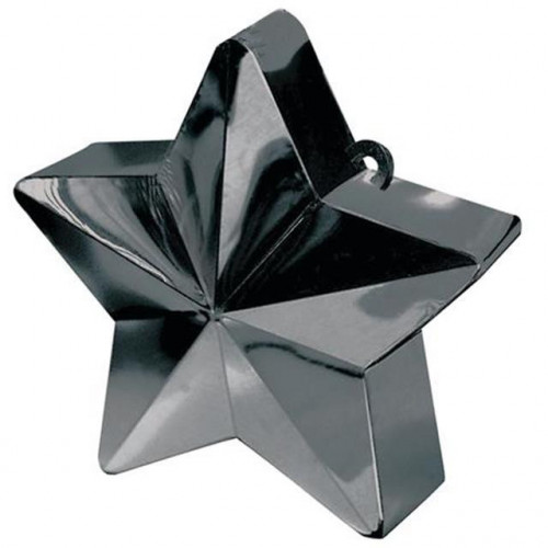 BALLOON WEIGHT STAR BLACK