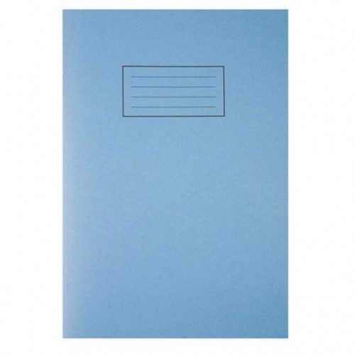 Blue Exercise Book A4, 80 Lined Pages with Margin