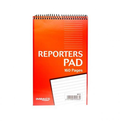 IMPACT REPORTERS PAD, 204x127mm, 160 PAGES