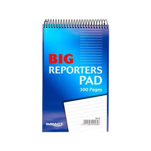 Impact Reporters Pad, 204x127mm, 300 Pages