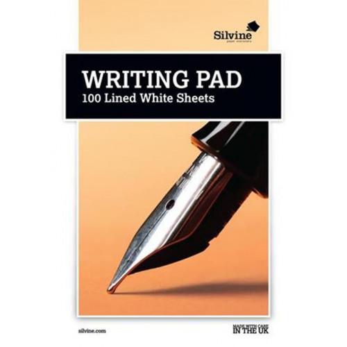 Silvine Medium A5 White Lined Writing Pad 100 sheets