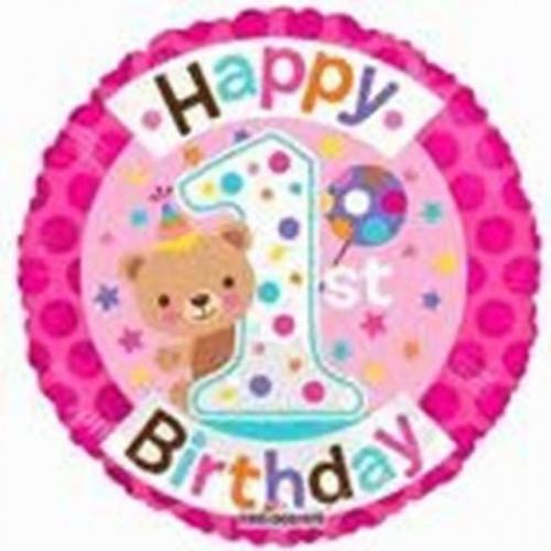 "18"" 1st Birthday Girl"
