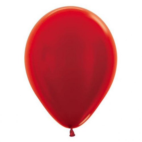 "12"" Metallic Red Pk50 Latex"