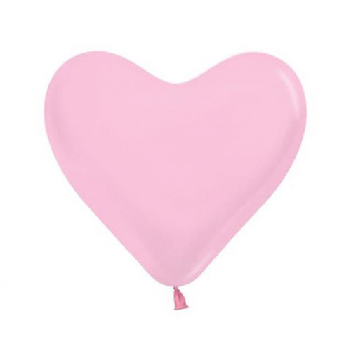 "Heart 6"" Fashion Pink Pk100 Latex"