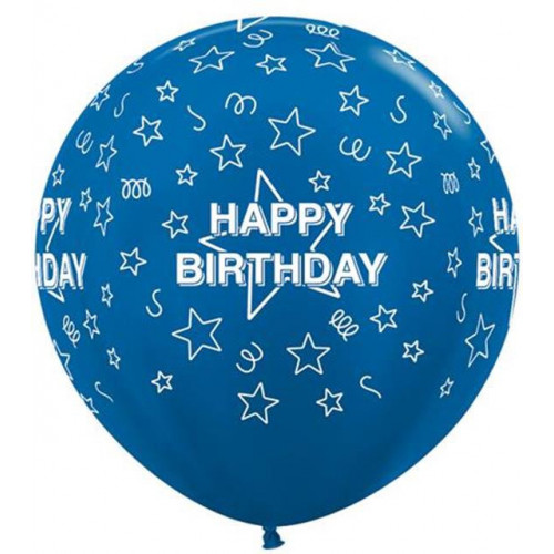 "Stars Blue 36"" Latex"