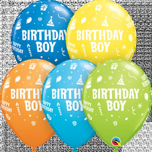 "11"" ROUND SPECIAL AST PK25 BIRTHDAY BOY"