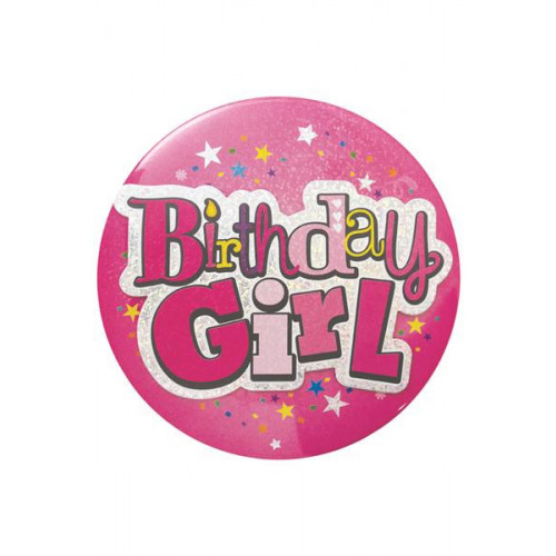 Birthday Girl Large Badge