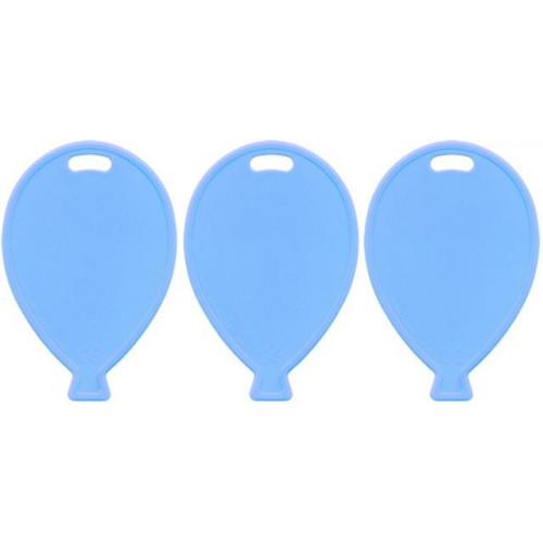 BALLOON SHAPE WEIGHTS PASTEL LT BLUE PK100