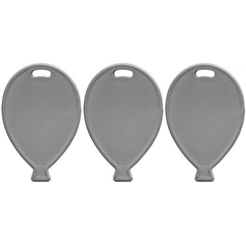 BALLOON SHAPE WEIGHTS PRIMARY SILVER PK100