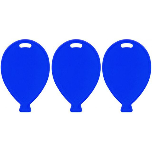 BALLOON SHAPE WEIGHTS PRIMARY BLUE PK100