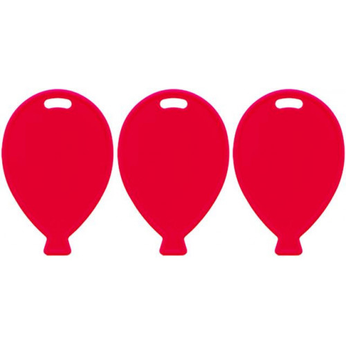 BALLOON SHAPE WEIGHTS PRIMARY RED PK100