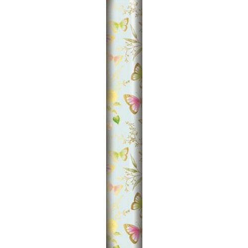1.5M BUTTERFLY FLORAL GIFTWRAP PK 12
