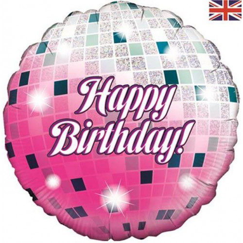 "18"" FOIL GLITTER BALL BIRTHDAY HOLOGRAPHIC"
