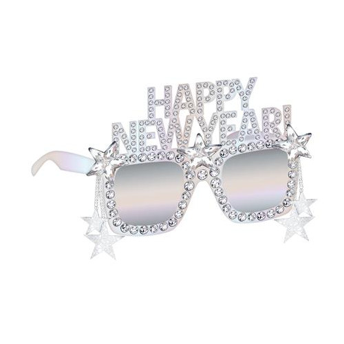 Glasses Disco Ball Drop New Year