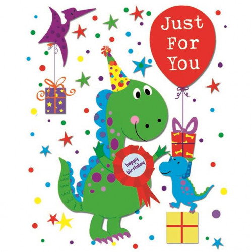 GIFT TAGS 12 PK JUVENILE MALE DINO