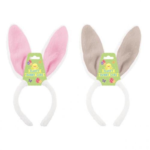Fluffy Bunny Headbands, Pack Of 12
