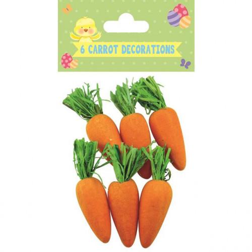 6 Carrot Decs, Pack Of 12