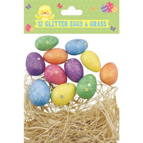 12 Glitter Eggs Pack Of 12