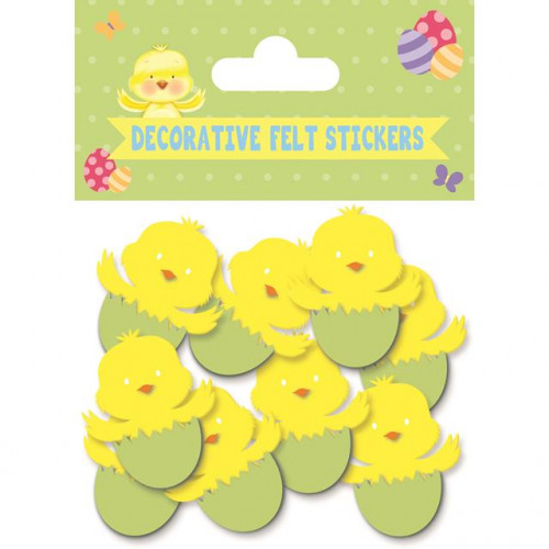 Chick Felt Stickers, Pack Of 12