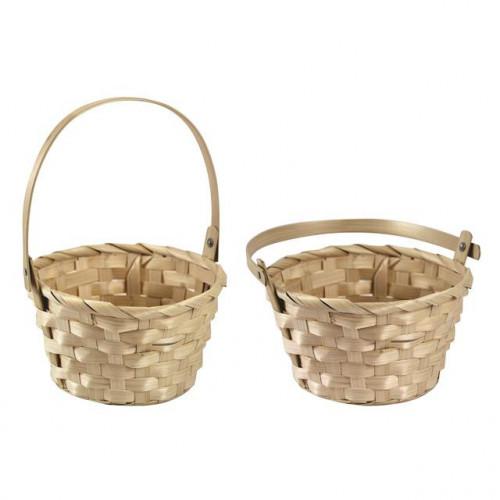 Beige Medium Basket, Pack Of 12