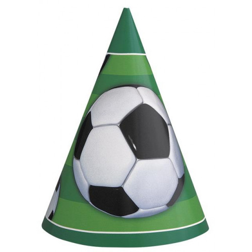 8 FOOTBALL PARTY CONE HATS