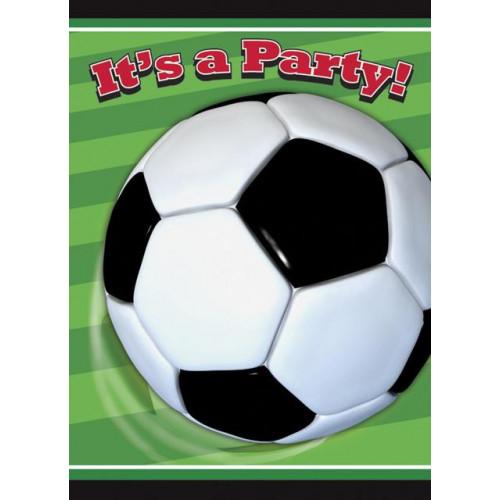 3D Soccer Invitations