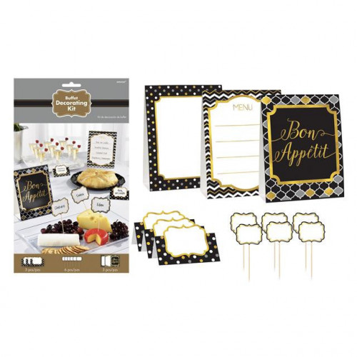 BUFFET DECORATING KIT BLACK