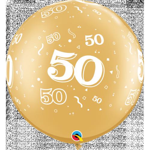 "30"" Latex Gold Pk2 50"