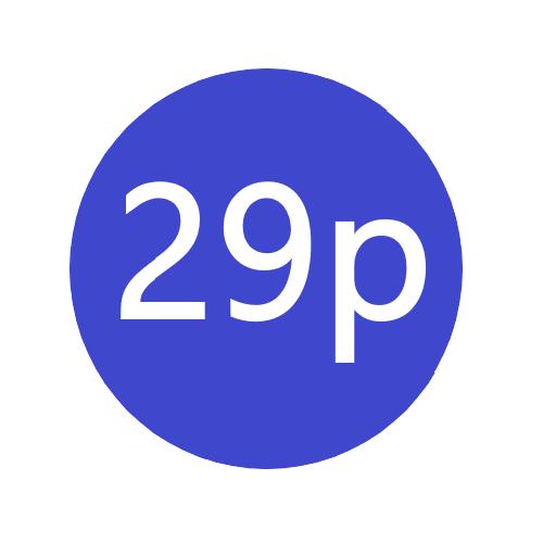 29p  x 1000 stickers per roll x5