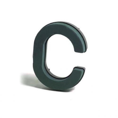 Plastic Backed Letter C 28Cmx22Cm