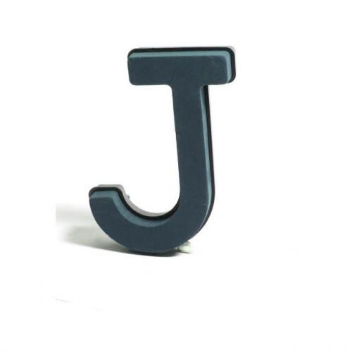 Plastic Backed Letter J 28Cmx22Cm