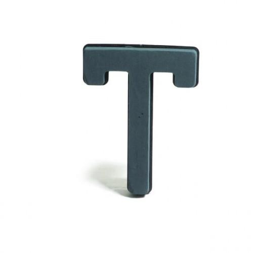 Plastic Backed Letter T 28Cmx22Cm