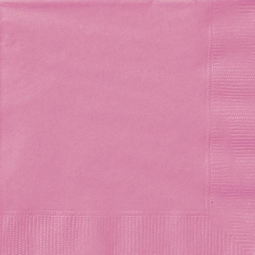 20 HOT PINK LUNCH NAPKINS 12 PIECES