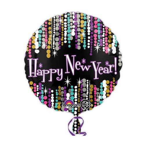 "18"" New Year Pizzazz Foil Balloon"