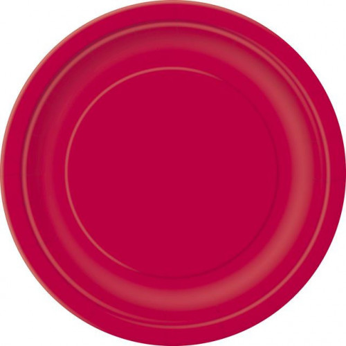 """16 RUBY RED 9"""" PLATES"""