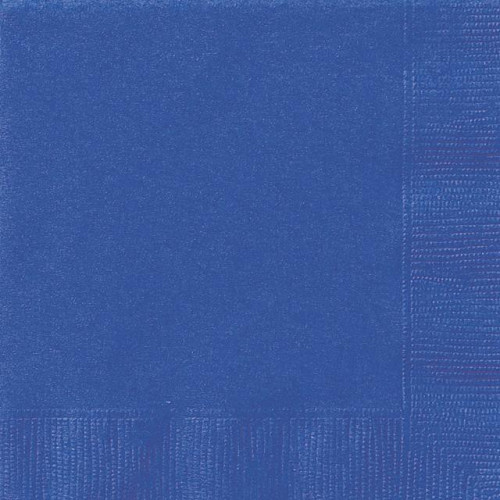 20 ROYAL BLUE LUNCH NAPKINS