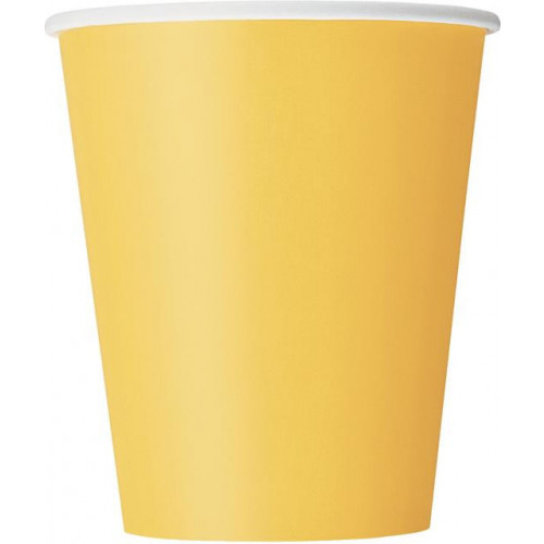 14 SUNFLOWER YELLOW 9OZ. CUPS
