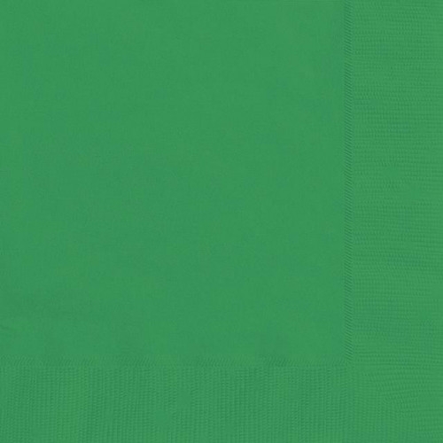 20 EMERALD GREEN LUNCH NAPKINS