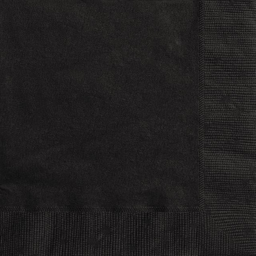 20 MIDNIGHT BLACK LUNCH NAPKIN